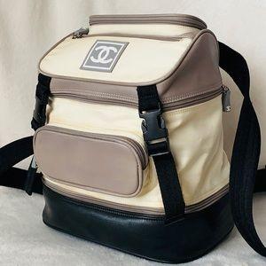 CHANEL Sport Line Lambskin Nylon Canvas Backpack